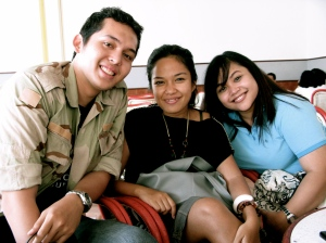 Erik (my cousin), me and Artya (my old friend)